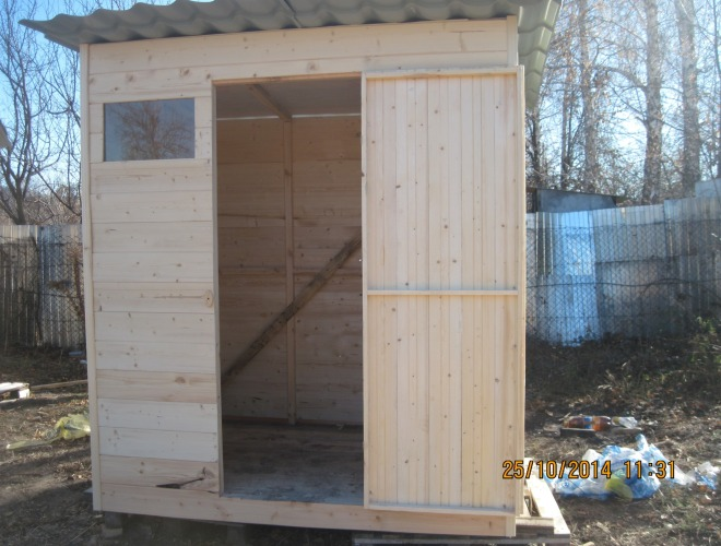 Сарай туалет на даче своими руками 60